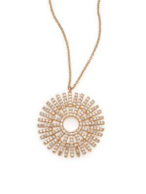 Astley Clarke Rising Sun Diamond & 14K Yellow Gold Pendant Necklace
