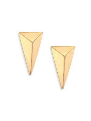 Alexis Bittar Pyramid Stud Earrings In Gold