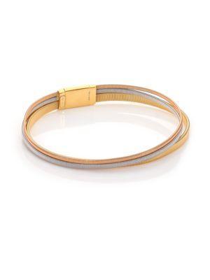 Marco Bicego Masai 18K Yellow Gold, 18K White Gold & 18K Rose Gold Multi-Row Bracelet