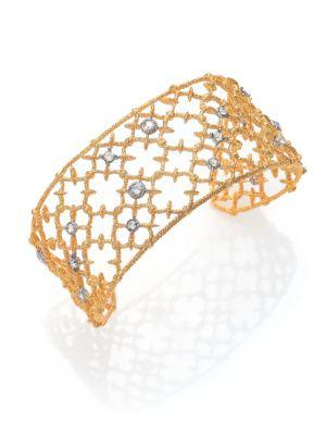 Alexis Bittar Elements Gilded Muse Crystal Small Spur Lace Cuff Bracelet In Gold