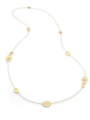 Marco Bicego Lunaria 18K Yellow Gold Small Station Necklace