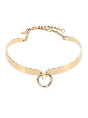 Alexis Bittar Miss Havisham Bar Choker Necklace In Gold