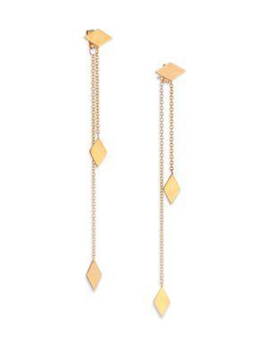 ZoË Chicco 14K Yellow Gold Kite Ear Jacket & Drop Earrings Set