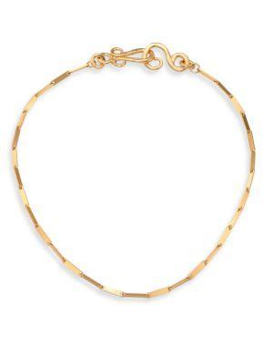 Stephanie Kantis Woodlands Link Necklace In Gold