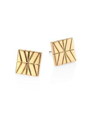 John Hardy Modern Chain 18K Yellow Gold Stud Earrings