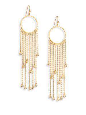 Jules Smith Daria Crystal Fringe Drop Earrings In Gold