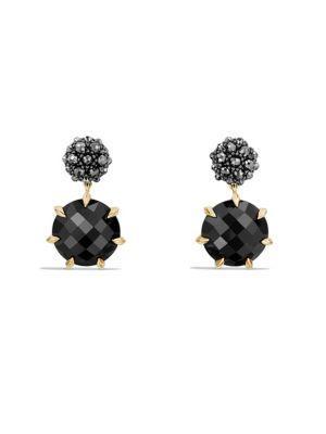 David Yurman Osetra Drop Earrings In Onyx