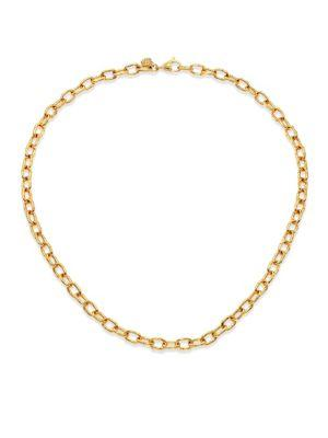 John Hardy Bamboo 18K Yellow Gold Small Link Necklace