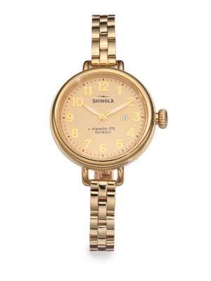 Shinola Birdy Goldtone Pvd Stainless Steel Bracelet Watch