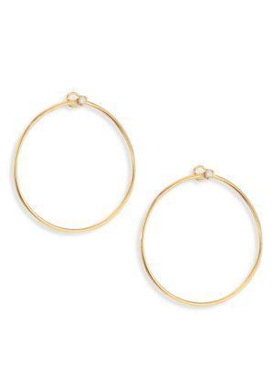 ZoË Chicco Diamond Stud & 14K Yellow Gold Front-Facing Hoop Earrings