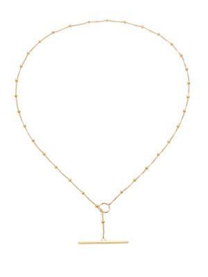 ZoË Chicco 14K Yellow Gold Satellite Toggle Chain Choker
