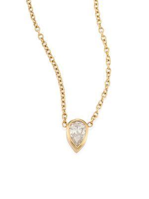 ZoË Chicco Teardrop Diamond & 14K Yellow Gold Choker