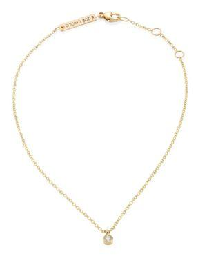 ZoË Chicco Diamond & 14K Yellow Gold Anklet