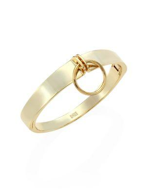 Alexis Bittar Elements Lady O Hinge Bangle In Gold