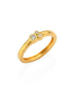 Gurhan Pointelle Diamond & 22K Yellow Gold Band Ring