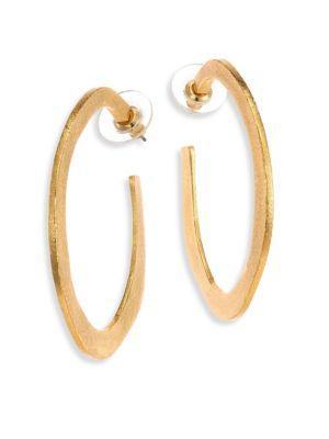 """Stephanie Kantis Organic Hoop Earrings/2.5"""" In Gold"""