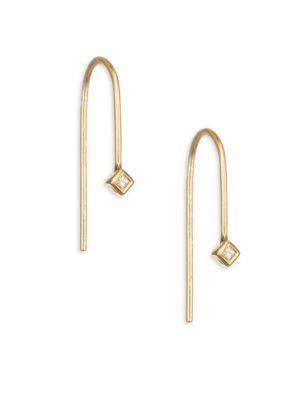 ZoË Chicco Diamond & 14K Yellow Gold Wire Earrings
