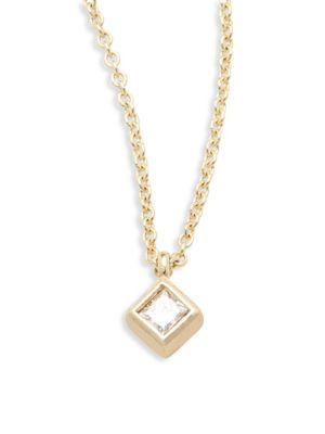 ZoË Chicco Diamond & 14K Yellow Gold Pendant Necklace