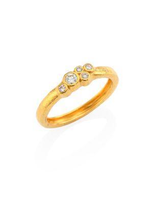 Gurhan Pointelle Diamond & 22K Yellow Gold Ring