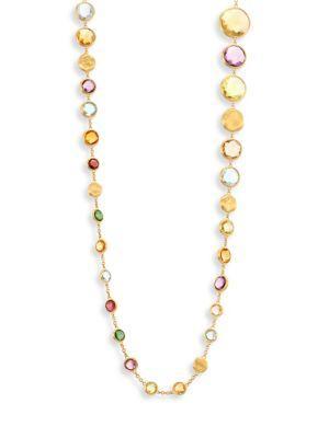 "Marco Bicego Jaipur Semi-Precious Multi-Stone & 18K Yellow Gold Necklace/36"""