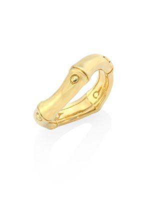 John Hardy Bamboo 18K Yellow Gold Curved Band Ring