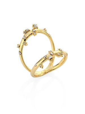 Alexis Bittar Elements Crystal Two-Part Ring In Gold