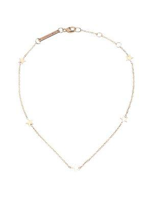 ZoË Chicco 14K Yellow Gold Itty Bitty Stars Anklet