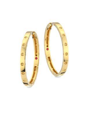 Roberto Coin 18K Yellow Gold Symphony Pois Moi Hoop Earrings