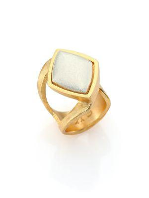 Stephanie Kantis Luxe Two-Tone Wrap Ring In Gold