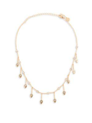 Jules Smith Rory Crystal & 14K Goldplated Dangle Necklace