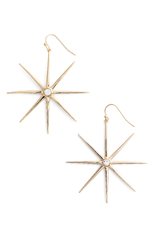 Jules Smith Supernova Drop Earrings In Gold/ Clear