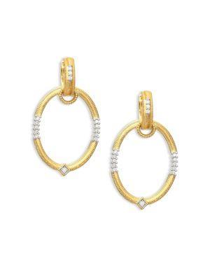 Jude Frances Diamond & 18K Gold Oval Earring Charm Frames