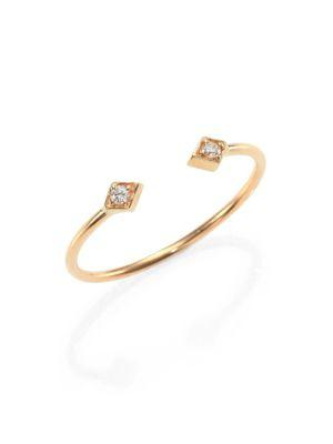 ZoË Chicco Diamond & 14K Yellow Gold Double Kite Open Ring