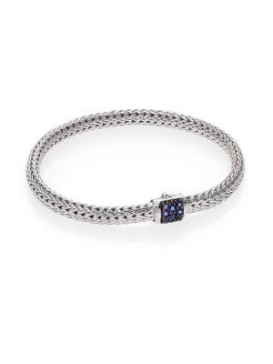John Hardy Classic Chain Sapphire & Sterling Silver Extra-Small Bracelet