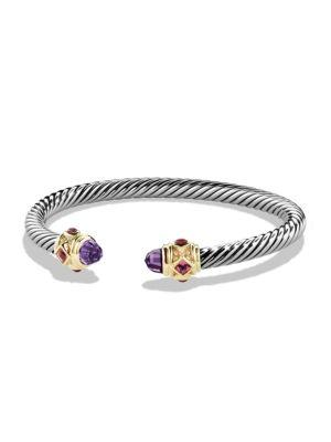 David Yurman Renaissance Bracelet With Blue Topaz, Lapis Lazuli And 14K Gold In Amethyst
