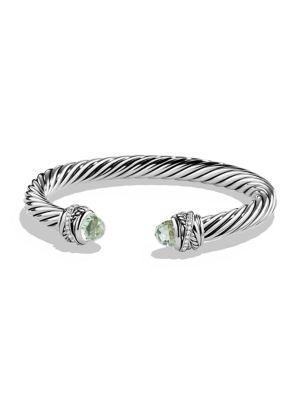 David Yurman Crossover Bracelet With Diamonds In Prasiolite