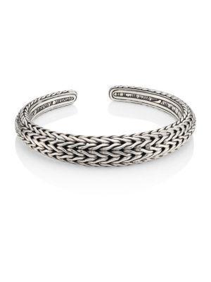 John Hardy Classic Chain Sterling Silver Cuff Bracelet