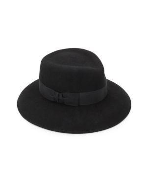 Eric Javits Raquel Wool Floppy Fedora Hat In Black