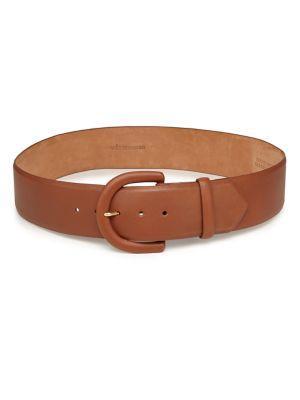 W. Kleinberg Contoured Leather Belt In Brown