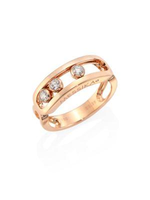 Messika Bague Move Diamond & 18K Rose Gold Ring
