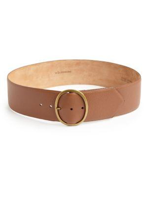 W. Kleinberg Textured Leather Belt In Cognac