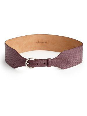 W. Kleinberg Python Belt In Burgundy
