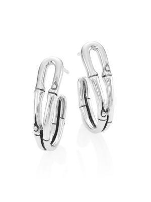 John Hardy Bamboo Small Sterling Silver Hoop Earrings