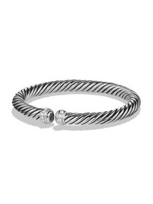 David Yurman Cable Spira Bracelet With Diamonds In Silver