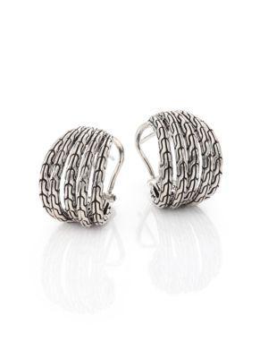 John Hardy Classic Chain Small Sterling Silver Hoop Earrings