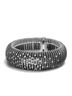 David Yurman Tempo Bracelet With Diamonds In Silver