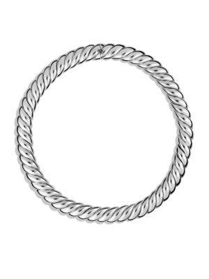 David Yurman Hampton Cable Necklace In Silver