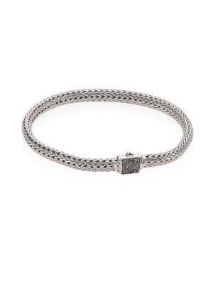 John Hardy Classic Chain Extra Small Grey Sapphire & Sterling Silver Bracelet