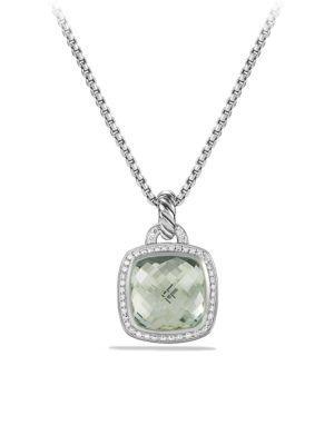 David Yurman Albion Pendant With Diamonds In Prasiolite
