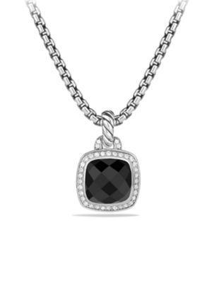 David Yurman Albion Pendant With Diamonds In Black Onyx